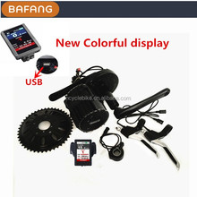 Newest colorful display 48v 750w bafang 8fun mid motor kits for electric bike