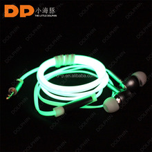flashing earphone unbranded earphones for Apple Ipod, Iphone and MP3 players