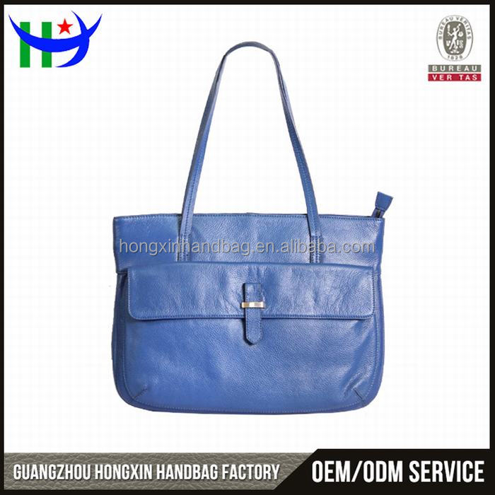 Popular Design Customized Logo No Brand Real Leather Handbags Made in China