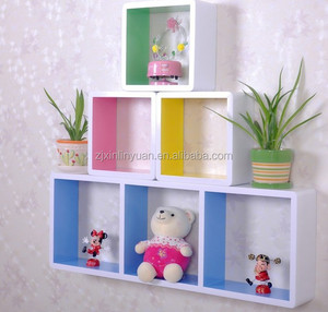 Germany market MDF wall decoration shelf display for books