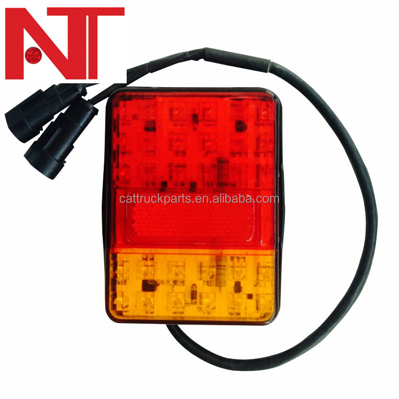 Brand New 12V 24V Red Amber Led rear combination light Truck trailer truck Rear Tail light waterproof