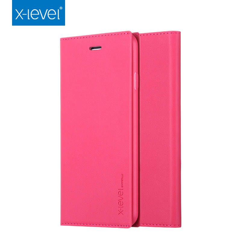 Pu leather flip wallet style leather phone case cover for iphone 6s