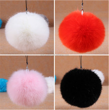 Wholesale price faux rabbit fur pompons colored ball chain imitation fur ball for garment