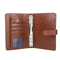 A4 A5 custom printed logo leather office filder folder with ring binder
