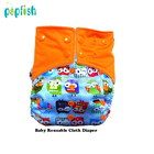 Size adjustable baby pocket cloth diapers