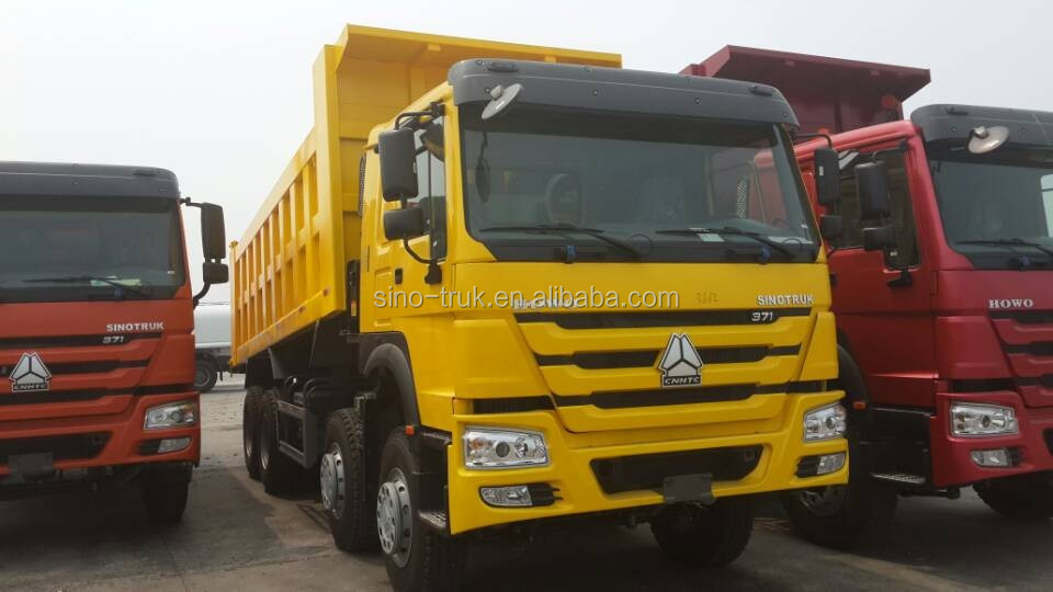 diesel engine sinotruk 8x4 dump truck tipper truck right hand drive