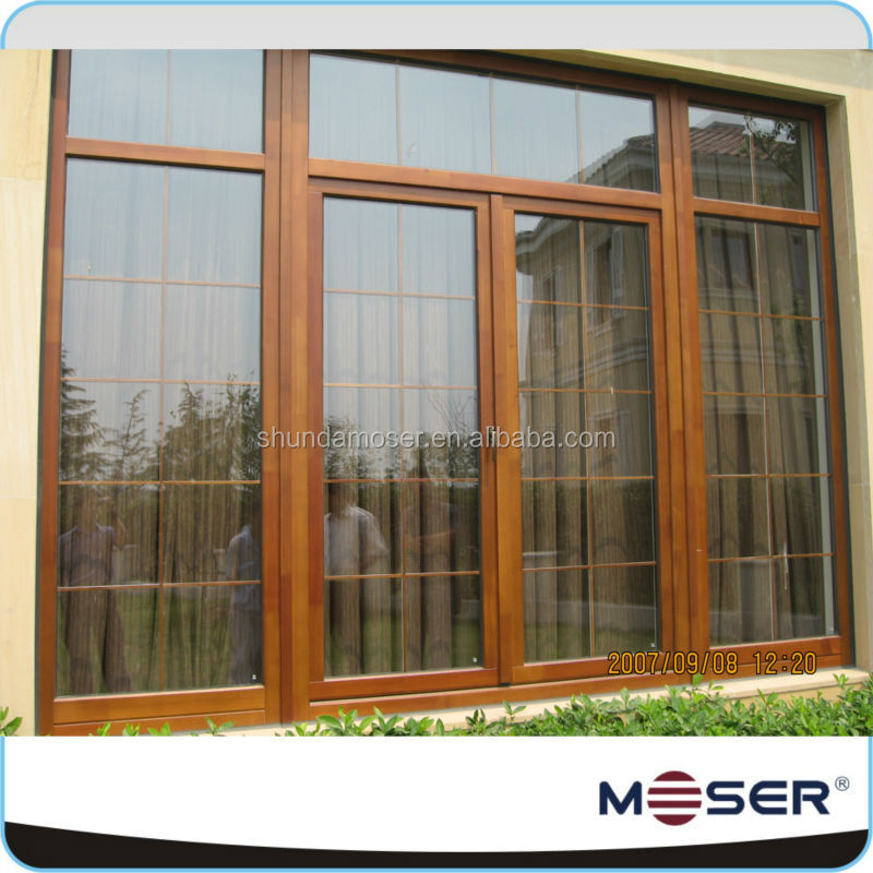 2014 larger size timber cladding triple glazed latest windows grill design