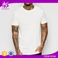 2016 Guangzhou 160g 97% cotton 3% spandex fashion summer men plain dyed O-neck short sleeve overseas t shirts wholesale