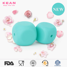 2016 New design food grade silicone dice shape beads