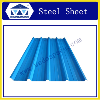 WEIDU Galvanized Metal Roofing Sheet Price Per Sheet for warehouse