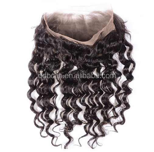 hot sale new product 360 frontal Exotic curly natural looking swiss lace frontal