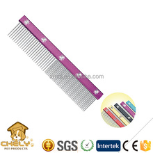 Stainless Steel Shank Pet Pin Comb/Dog Hair Blade Comb Pet Cleaning & Grooming Products