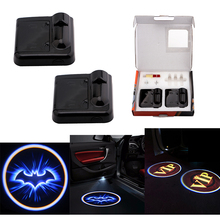 No Drill Hole Wireless Led Door Laser Projector Light Custom Car Logo Light