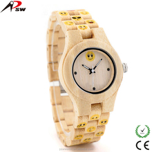 Printed Lovely Face Best Quality Wood Watch Customize Wood Minimalist Watch