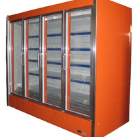 Remote Type Supermarket Upright Glass Door