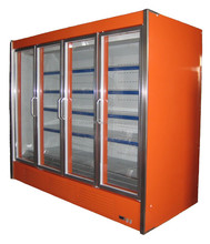 Remote Type Supermarket Upright Glass Door Multideck Refrigerator Deep Freezer
