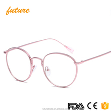 Top Quanlity literary style unisex Clear Lenses Multicolor Alloy Metal Frame Round Men Women Vintage Sunglasses