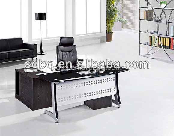 OFFICE furniture Glass Executive Office With Glass Top L Shape Executive Office Table PT-D052