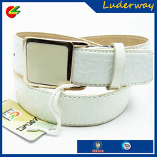 ladies fashion figure leather baseball belts manufacturers