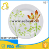 indoor use 10inch melamine round shape plastic plate for restaurant