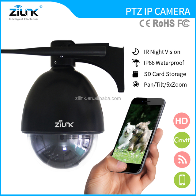 Zilink CMOS ptz wireless ip camera for outdoor 5x optical zoom waterproof HD 1080P 2mp