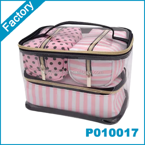 4 Pcs Transparent PVC Cosmetic Bag Makeup bag