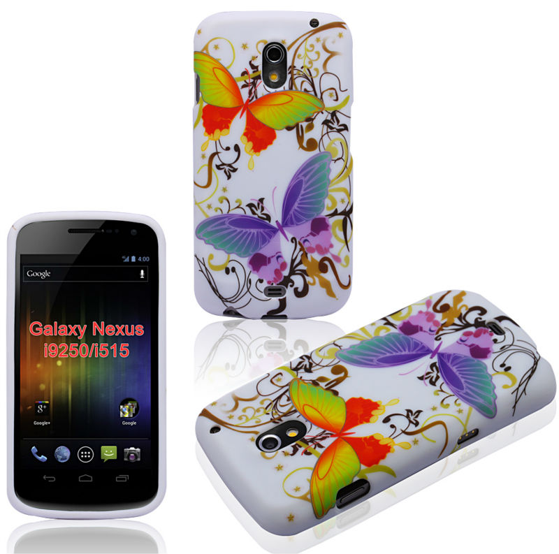 Butterfly Skin Cover For Samsung Galaxy Nexus i9250 Crystal Hard TPU Gel Case