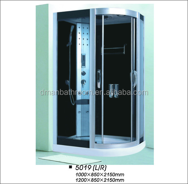 jetted tub shower combo/steam shower whirlpool bathtub/steam room
