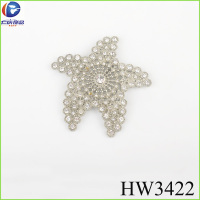 The crystal rhinestone starfish clips for children shoes buckle