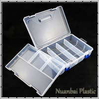 2-layer Plastic Jewelry Clear Storage Adjustable Compartments Tool Bin Storage Box