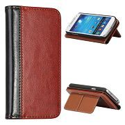 High Quality Fashion Crazy Horse Pattern Stand Flip Leather Case for Samsung Galaxy S4 Mini I9190 Case
