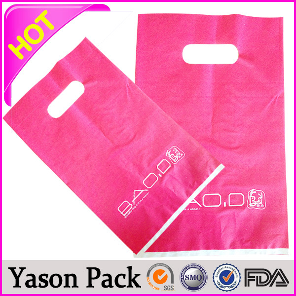 HDPE/LDPE recyclable handle plastic PE shopping bags