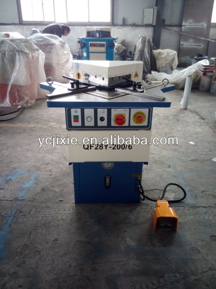 China suppliers QF28Y hydraulic fixed angle corner notching machine from machine