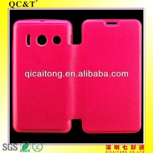Transformer TPU+PU leather case for huawei Y300 U8833