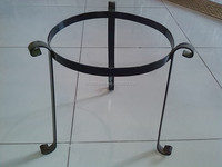 wrought iron flower pot basket stand with good quality