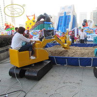 Playgounds use kids ride on toy excavator for sale