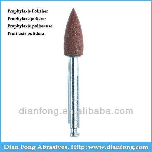 Ar101M Brown RA Shank Low Speed Bullet Silicone Rubber Prophylaxis Polisher For Polishing Ceramic Polishing Grinding Burr