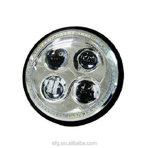 Round Hi/Lo 7 inch led headlight with DRL auto head light for jeep wrangler