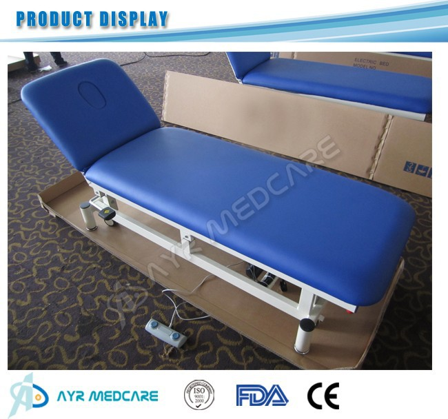 two sections electric physiotherapy bed