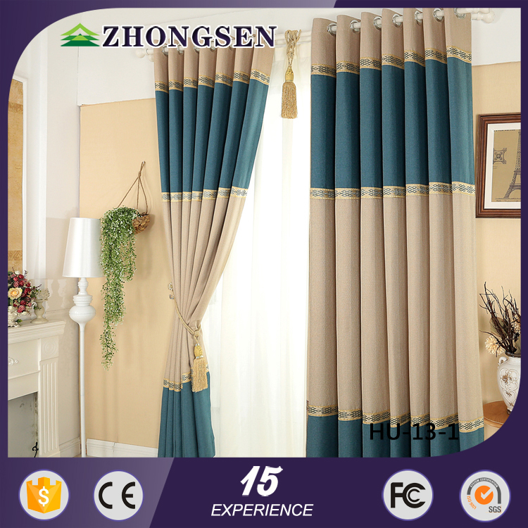 knitted different style luxury curtain of home supplied