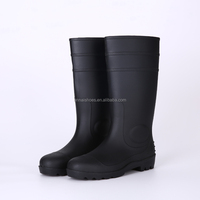 Hot sale durable safety PVC rain boots, steel toe insert safety boots