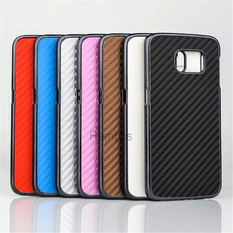 Carbon Fiber Style Aluminum Metal Chrome Phone Back Cover Case for Samsung Galaxy Alpha G850F / Grand 2 G7106/ S5 mini