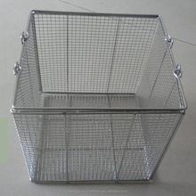 Made In China Home Depot Wire Mesh Metal Storage Basket Wire Mesh Hanging Baskets/Stainless Steel Wire Mesh Containers