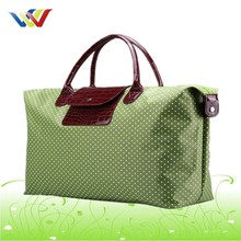 Green dot design cute travelling bag for teenagers