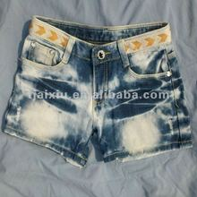 second hand clothes ladies jean short with fashion style