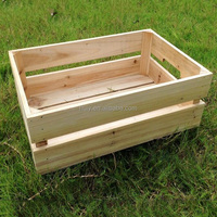 customize craved wood wine storage crate