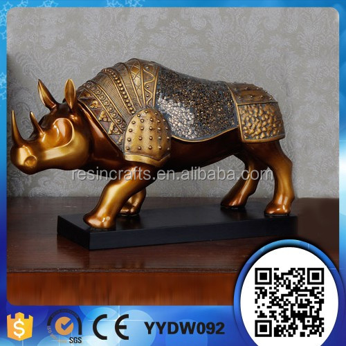 poly resin decorative rhinoceros statue