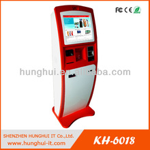 Touch Screen Prepaid Card Vending Machine / Cash Acceptor Payment Kiosk with card dispenser