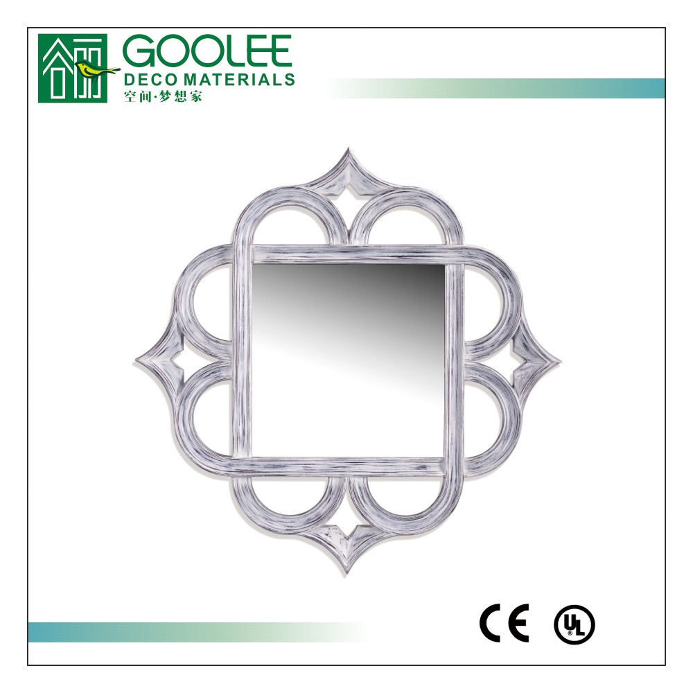 Goolee PU framed pierced engraved decorative mirror