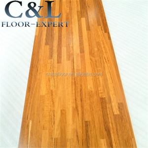 natural color smooth surface fingerjoint Burma teak engineered wood flooring